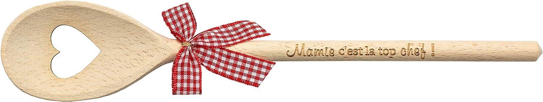 decorazione da cucina cucchiaio in legno Mestolo in legno con incisione cucchiaio in legno regalo per nonna nonna e nonna Mamie Cest La Top Chef utensili da cucina