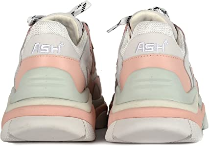 26575c55e6f084 Ash , Plateforme Femme - Rose - Blanc/Rose, 41: Amazon.fr ...