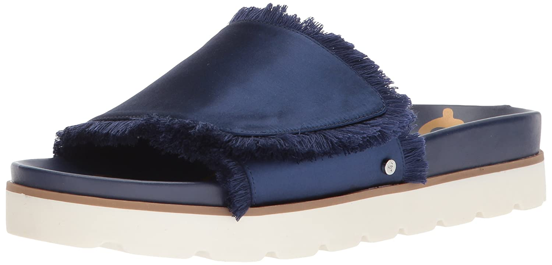 Sam Edelman Women's Mares Slide Sandal B071112G21 10 B(M) US|Poseidon Blue Satin