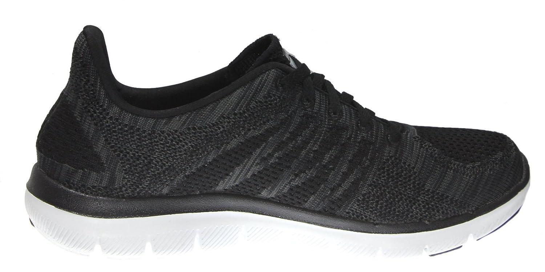 Skechers Damen Flex Appeal 2.0 Sneakers, Schwarz Schwarz/Charcoal