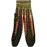 Egmy Sell Gift, Thai Harem Boho Festival Hippy Smock High Waist Yoga Pants