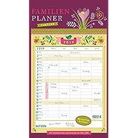 Familienplaner Vintage 2019: Familienkalender, 5 große Spalten. Familientimer mit Ferienterminen, extra Spalte und Vorschau für 2020. Format: 27 x 47 cm