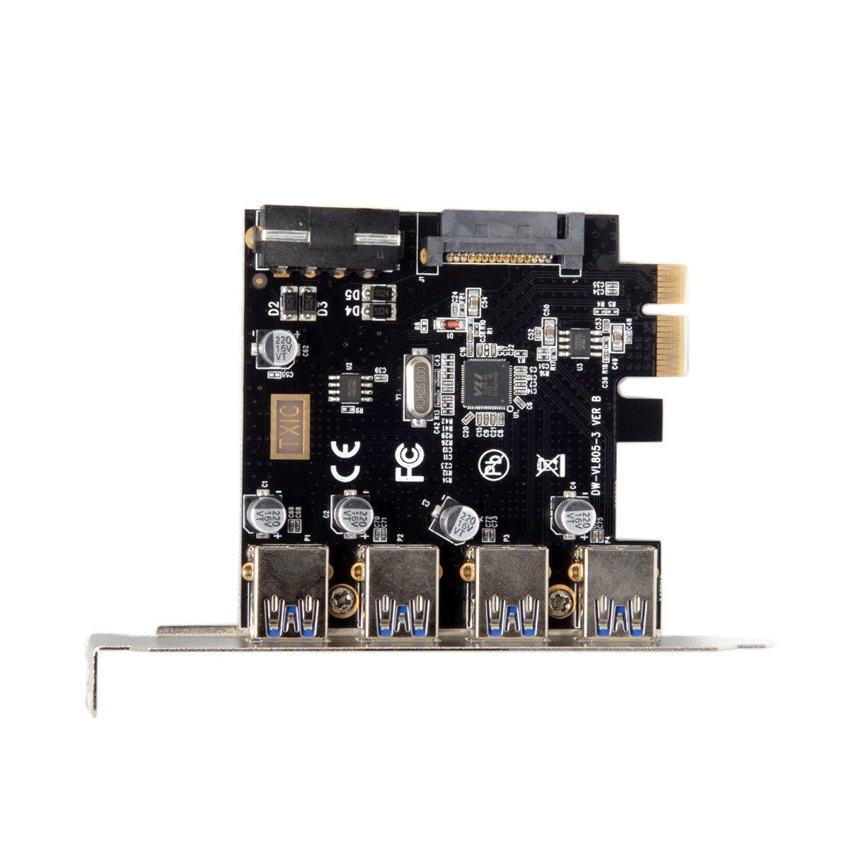 CY 4 Ports PCI-E to USB 3.0 HUB PCI Express Expansion Card A