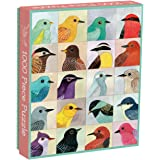 """Galison Avian Friends 1000 Piece Puzzle – Finished Puzzle Measures 20"""" x 27"""" and Features 20 Fine Art Bird Illustrations"""