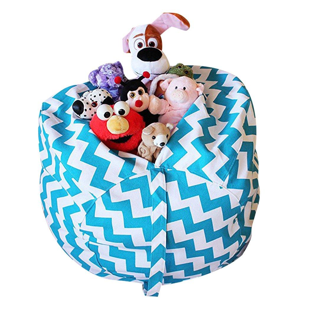 JUSTDOLIFE Toy Storage Bag Home Organizer Bag Cotton Canvas Stuffed Animal Bag Toy Organizer Bag Random Color