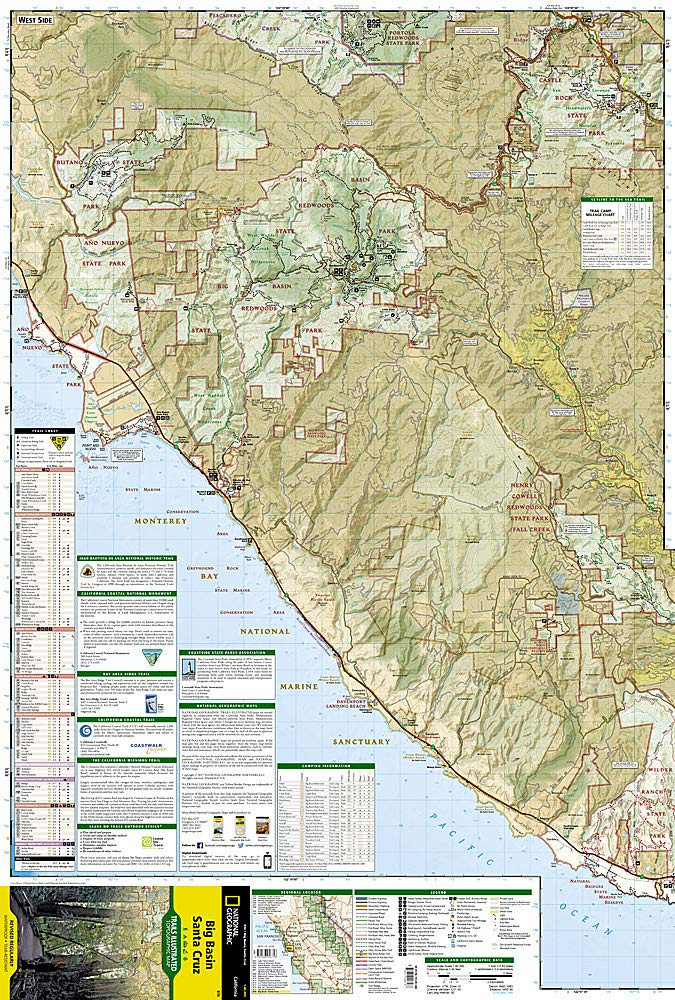 Big Basin, Santa Cruz (National Geographic Trails ... on barstow road map, san fernando road map, pleasant hill road map, florin road map, oakland road map, red rock canyon road map, manzini road map, las marias road map, occidental road map, seaside road map, simi valley road map, cupertino road map, white sands missile range road map, temecula road map, bloomington road map, napa county road map, sebastopol road map, oceanside road map, kapaa road map, vacaville road map,