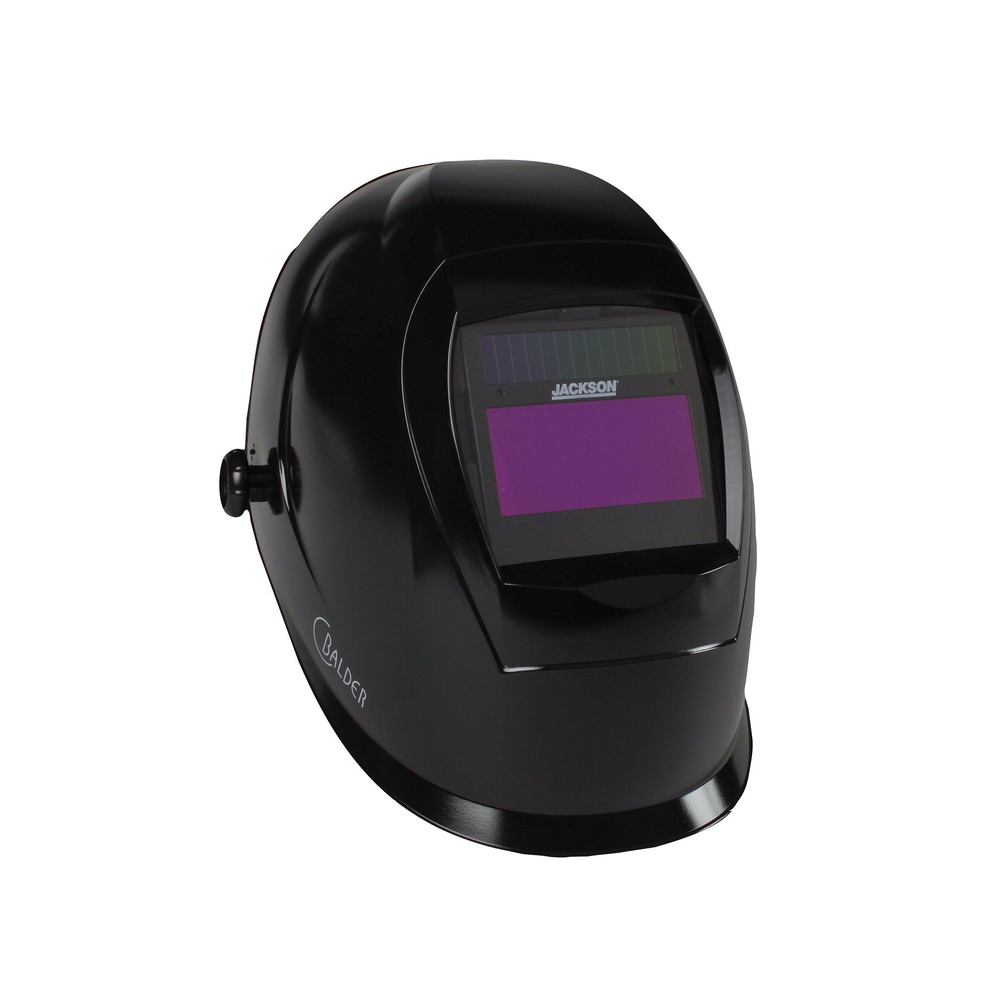 Jackson Safety SmarTIGer Variable Auto Darkening (ADF) Welding Helmet with Balder Technology (46140), Black by Jackson Safety