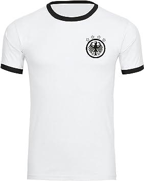 Multi Fan Shop Camiseta de Alemania Águila Retro Camiseta Hombre Blanco/Negro (Tallas S – 3 x l – Fútbol Campeones del Mundo Alemania Copa del Mundo 2018 Rusia: Amazon.es: Deportes y aire libre