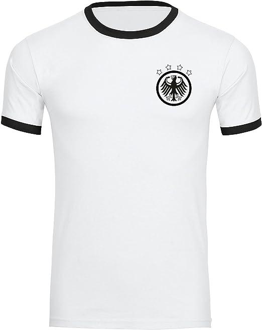 Camiseta de Alemania de águila retro, para hombre, color negro/blanco, tallas S - 3XL: Amazon.es: Ropa y accesorios
