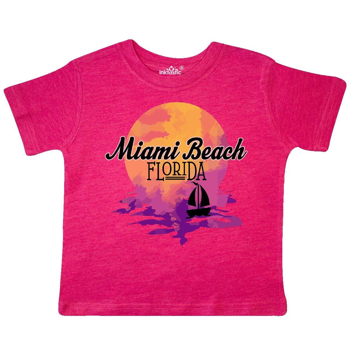 inktastic Miami Beach Florida Vacation Sunset Toddler T-Shirt