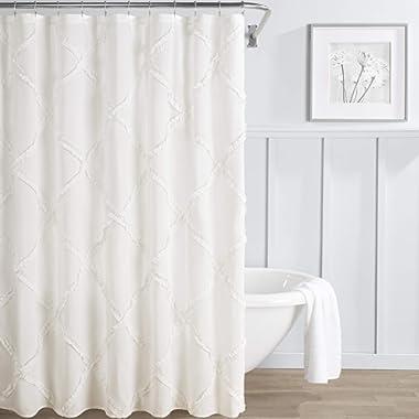 Laura Ashley Adelina Shower Curtain 72x72 White