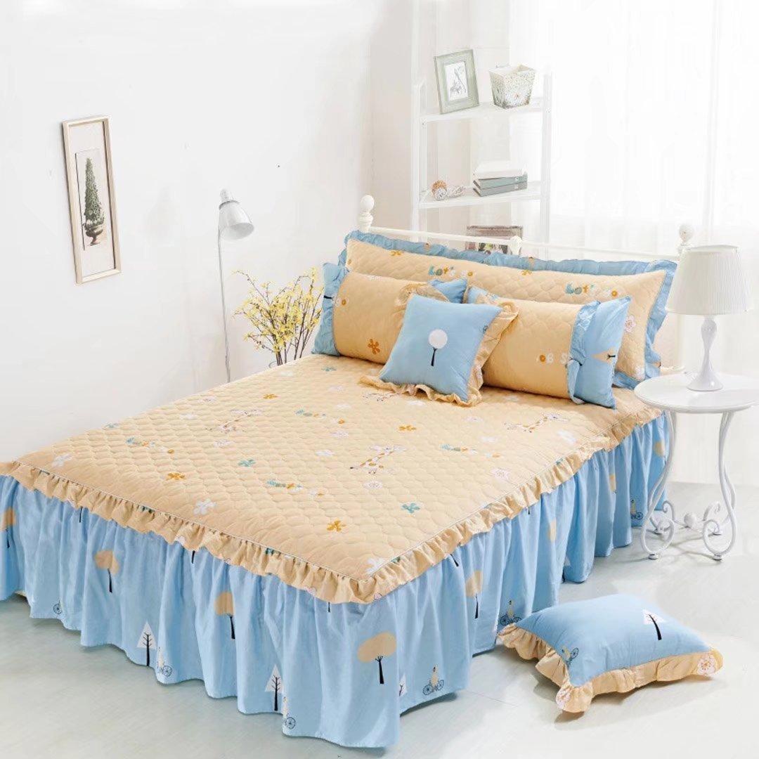 ベッドスカート エレガント ベッドスプレッド 3点セット ベッドカバー コットン おしゃれ ベッド掛け シンプル 寝具 シーツ EBODONG B078KNDTNF タイプ2 ベッドスプレッド(200*220cm)+ピローカバー(2枚)