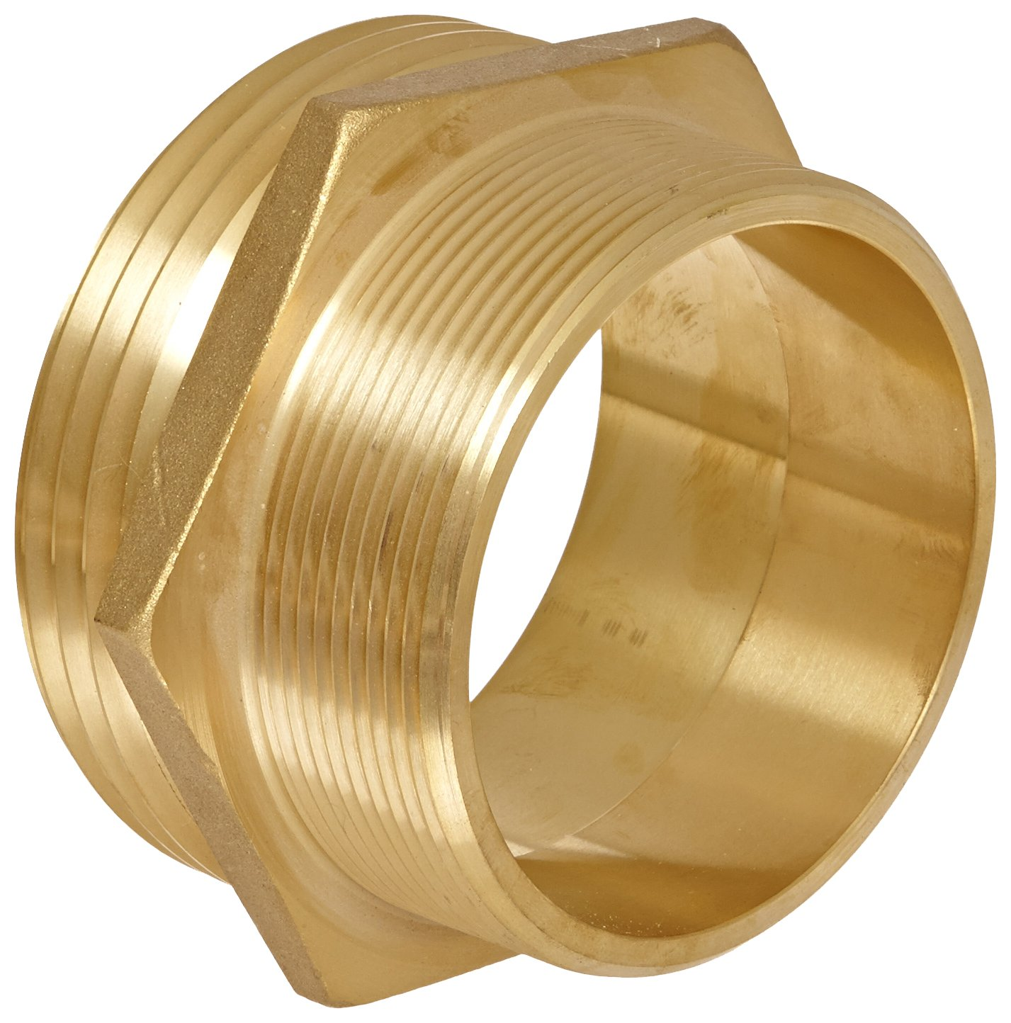 Moon 358-4064021 Brass Fire Hose Adapter, Nipple, 4