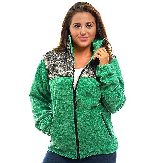 6654bfdc0ac TrailCrest Women s C-Max Full Zip Polar Fleece Jacket Mossy Oak Camo ...