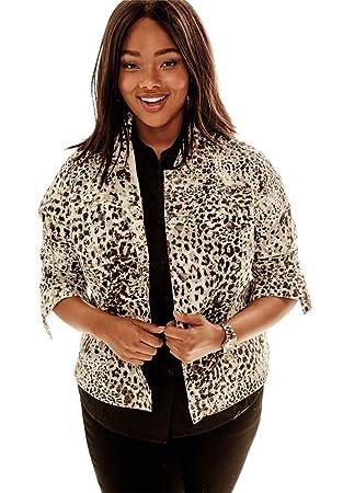 Amazon.com: Jessica London Women's Plus Size True Fit Classic Jean ...