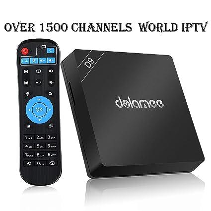 Amazon com: International IPTV Receiver Box 4K with 1500+ Global