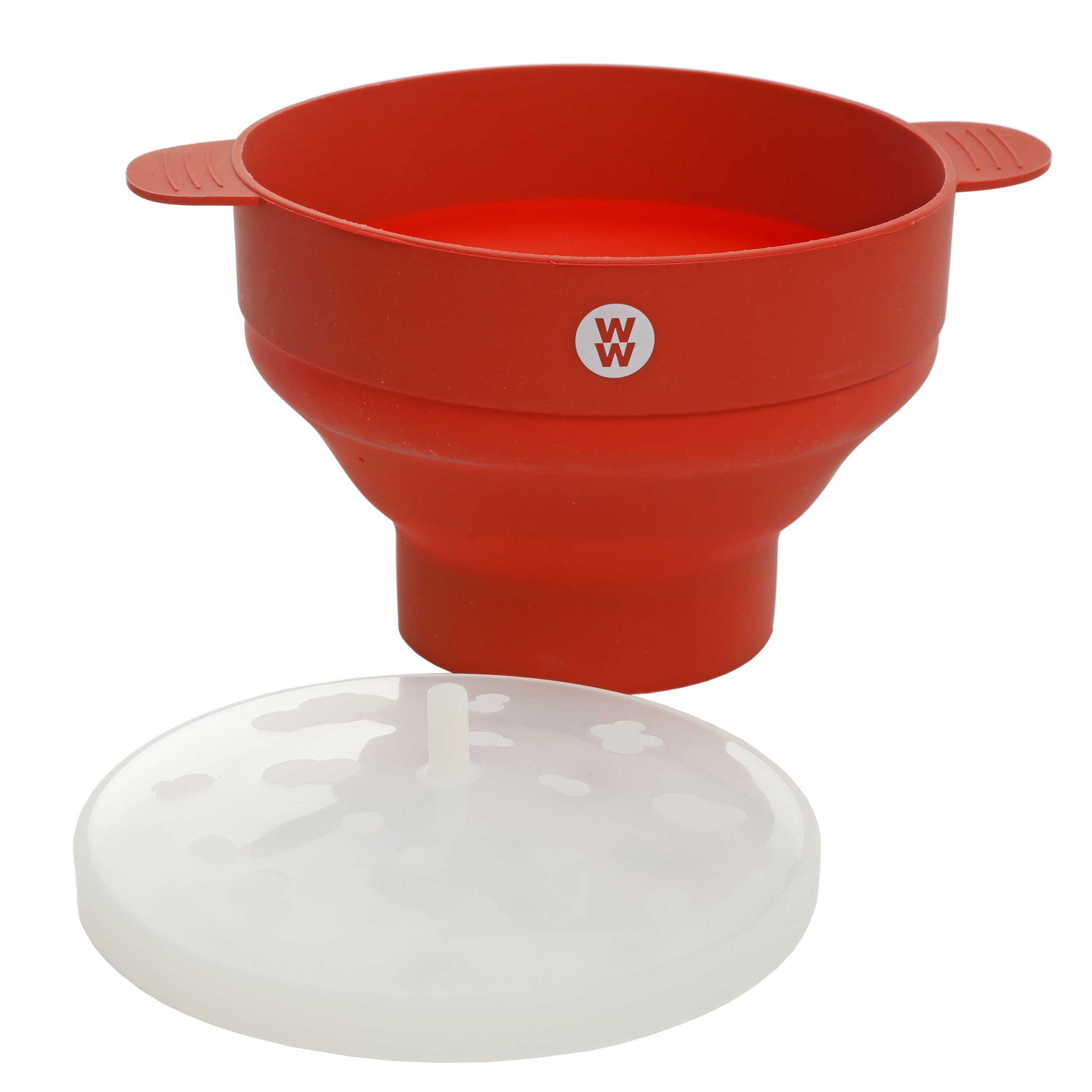 Weight Watchers 116916.01 Elmsley 9.5 x 6 Inch Silicone Microwave Pop Corn Bowl, Crimson