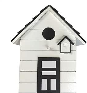 CasaJame Hogar Accesorios Decoración Jardín Casa para Pájaros Blanco 17x12x20cm: Amazon.es: Jardín