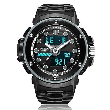 XKC-watches Relojes para Hombres, para Hombre/Mujer Deportes y Ocio Multifuncional Pantalla Digital Movimiento Reloj Impermeable (Color : 3): Amazon.es: ...