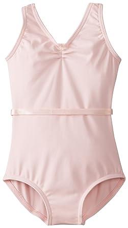4bd12c0e9711 Amazon.com  Capezio V-Neck Pinch Front Leotard w Belt - Girls  Clothing