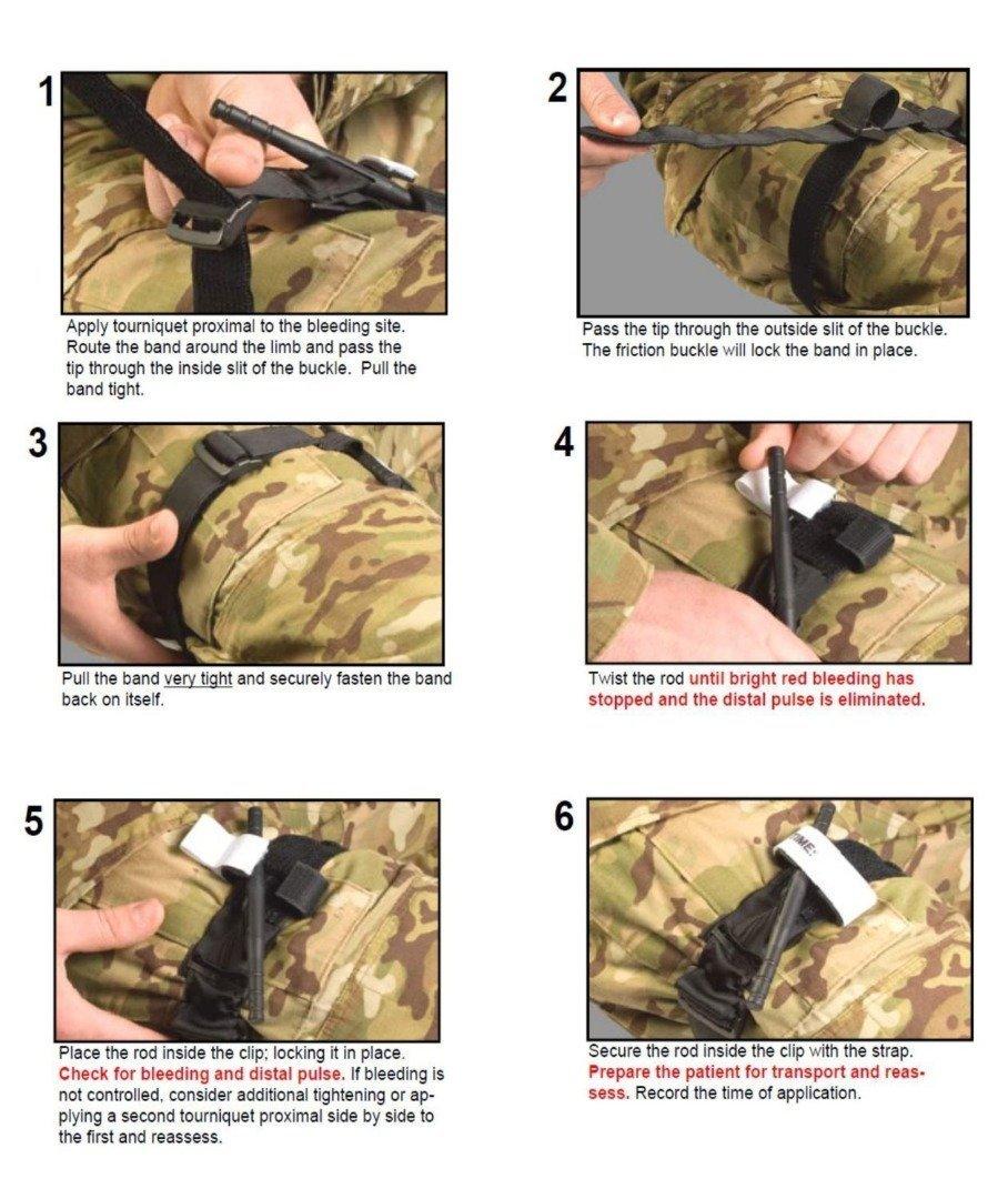 COUTUDI Tourniquet First Aid Kit Trousse de Premiers Soins pour Masque de Poche de RCR pour Bandage traumatique de Garrot de Trousse de Secours pour Le Combat Tactique Militaire