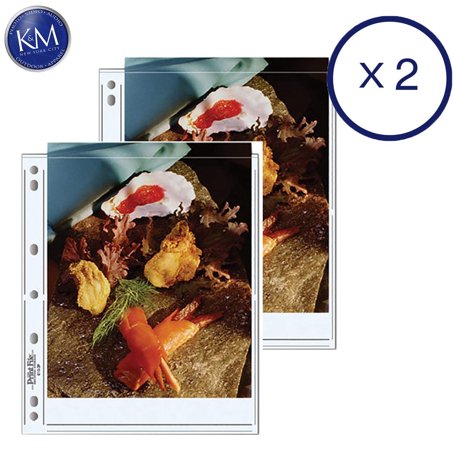 Print File Archival Storage Pages for Prints | 8 x 10, 2 Pockets - 25 Pack x 2 by Print File