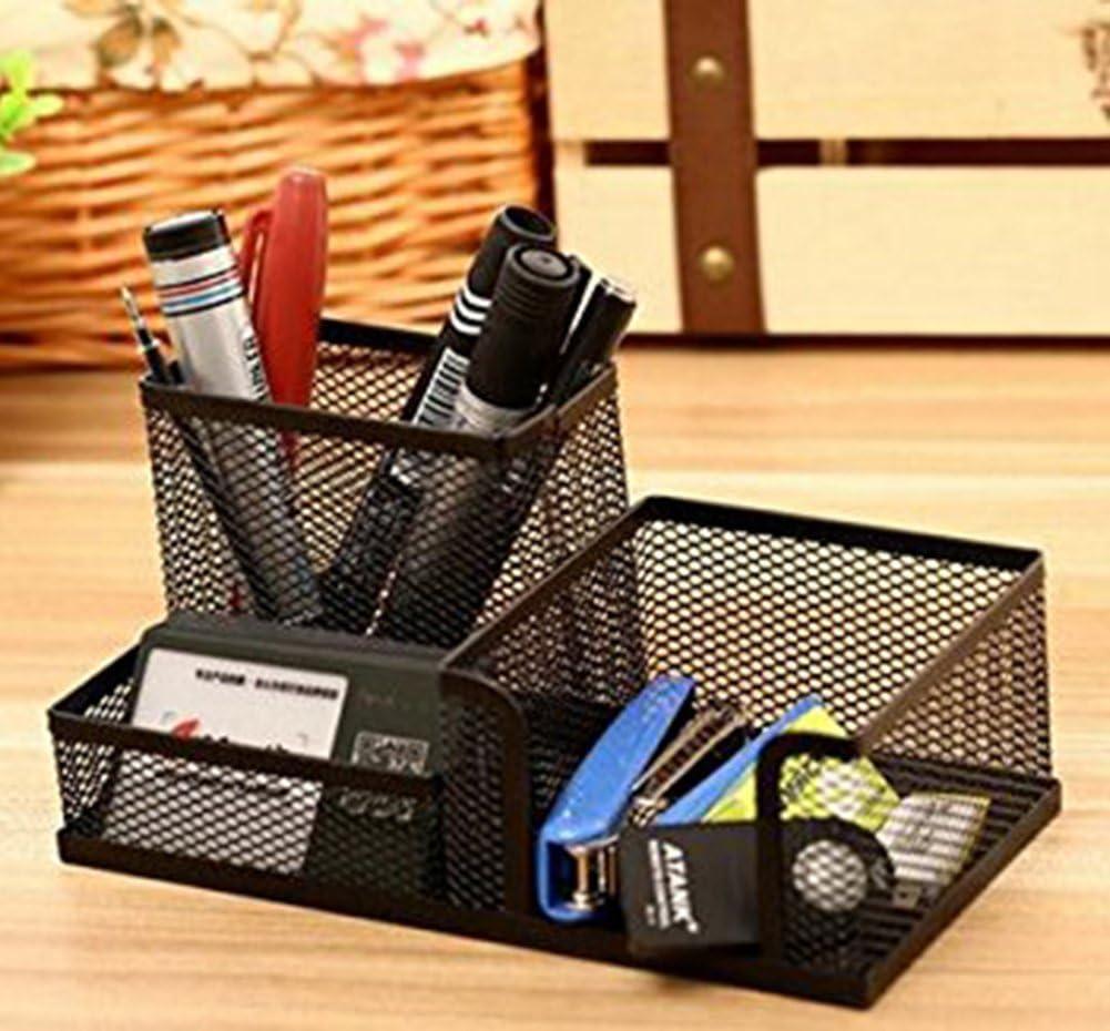 1 pcs Rose Dosige Multifunktionale Schreibtisch Organisator Stiftehalter Stift Stiftebox Stiftek/öcher 3 geteilt F/ächer