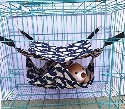 Rapidly Cat Hammocks Nonstick Hair Fabric Cat Comfortable Soft Hammock Bed Use with Cage or Chair, for Cat/Rabbit/Rat/Other Small Animals