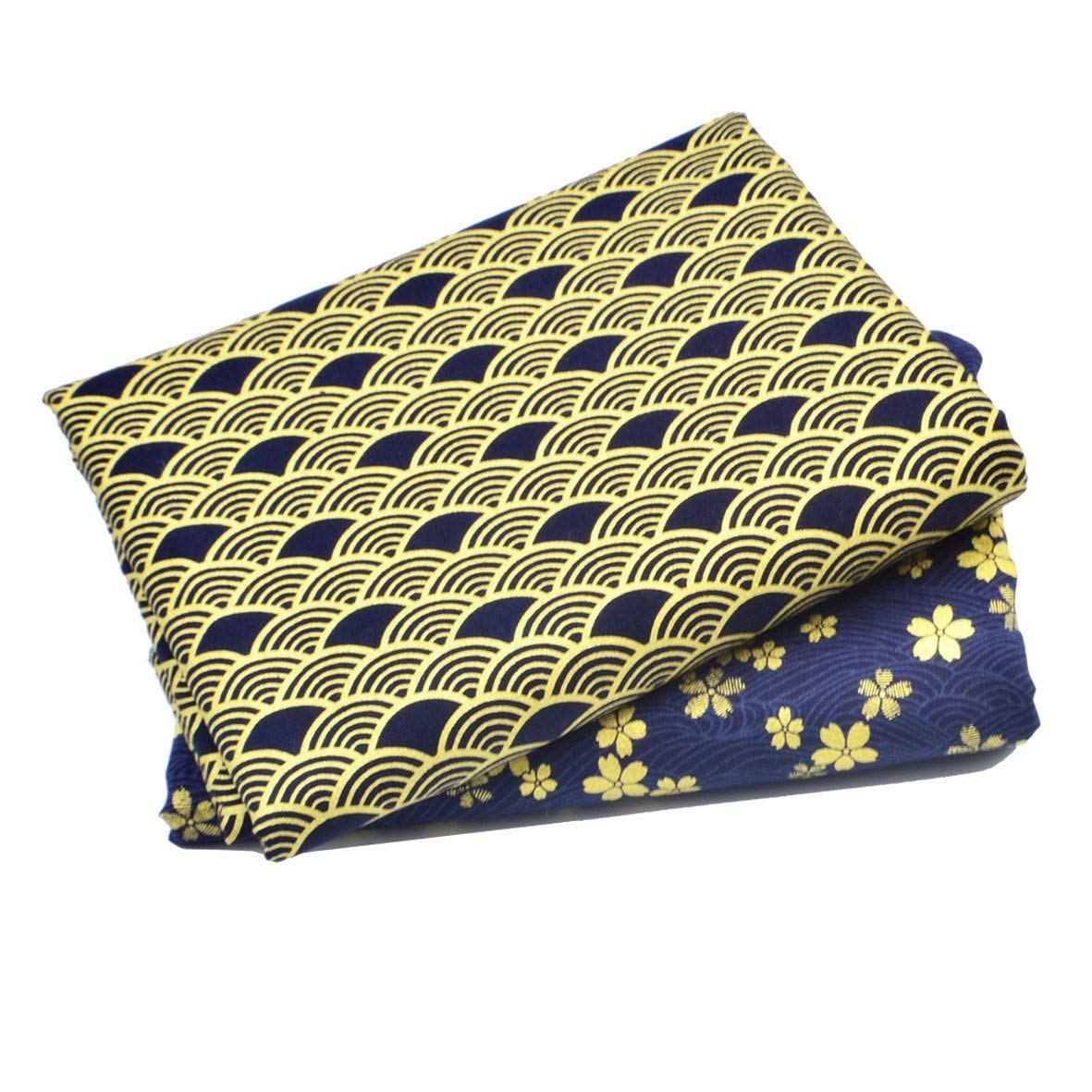 Sewing Quilting Fabric Indigo 18x22, iNee Japanese Sea Wave Fat Quarters Fabric Bundles