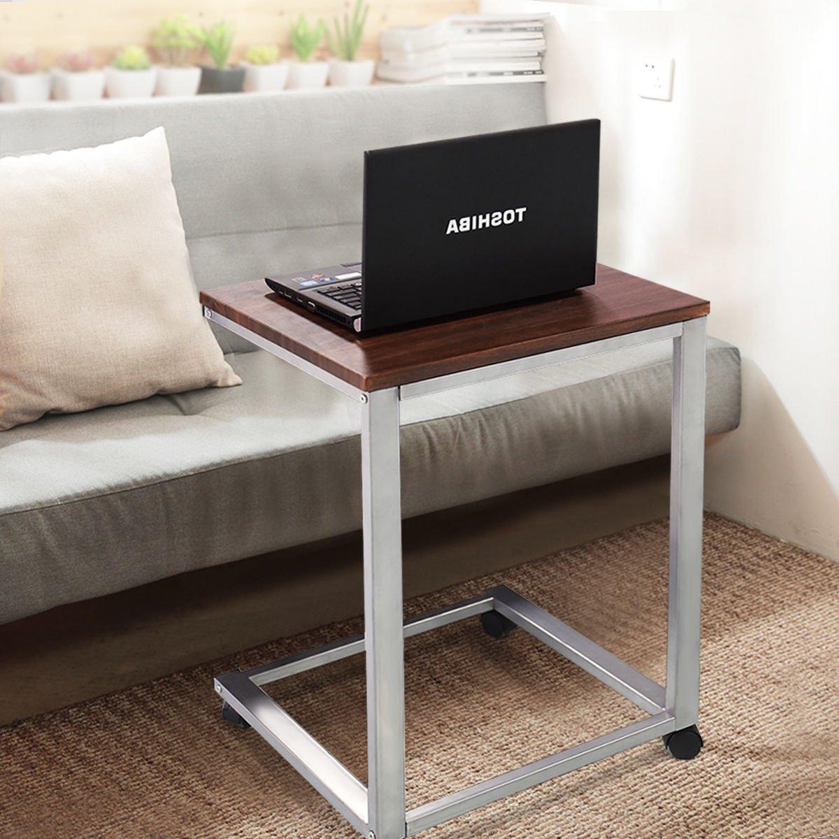 Amazon.com: Tangkula Coffee Tray Sofa Side End Table Laptop Stand ...
