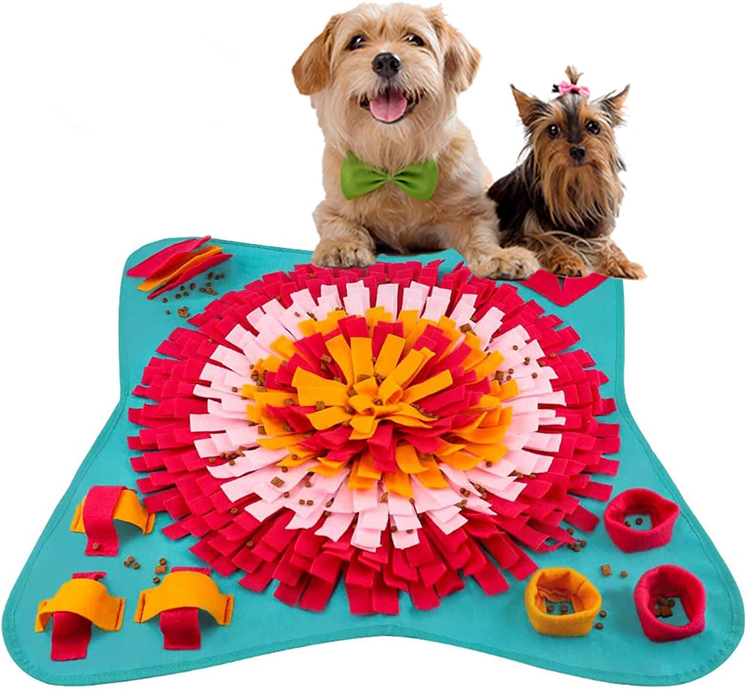 PJDH Snuffle Mat for Dogs, Interactive Dog Toys Slow Feeding Mat Nose Work Mat for Dogs