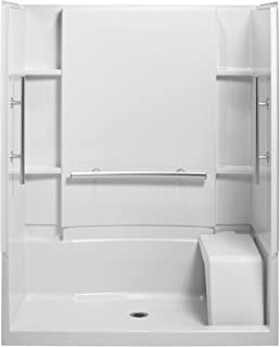 Sterling 62034100-0 Vikrell 48-Inch Seated Shower Stall Wallset ...