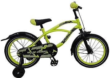 Volare Bicicleta Niño Yellow Cruiser 16 Pulgadas Ruedas Extraíbles ...