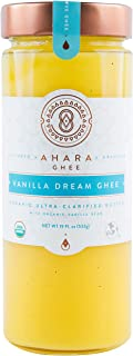product image for Ahara Rasa Vanilla Dream Ghee 19oz, 100% Organic. Lactose Free & Free USDA & Kosher Certified. No Salt, No GMOs. Made in USA
