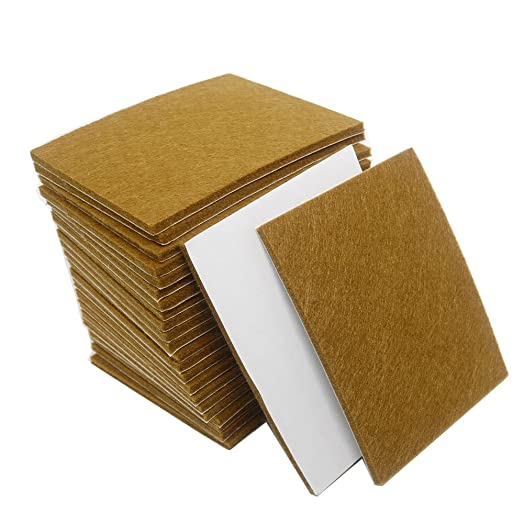 Heavy Duty Felt Sheets Self Adhesive Furniture Pads Round Floor Protectors,  Felt Chair Pads,