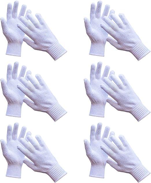 Knit Cotton Work Gloves Heavyweight 7 Gauge 6 Pairs Amazon Com