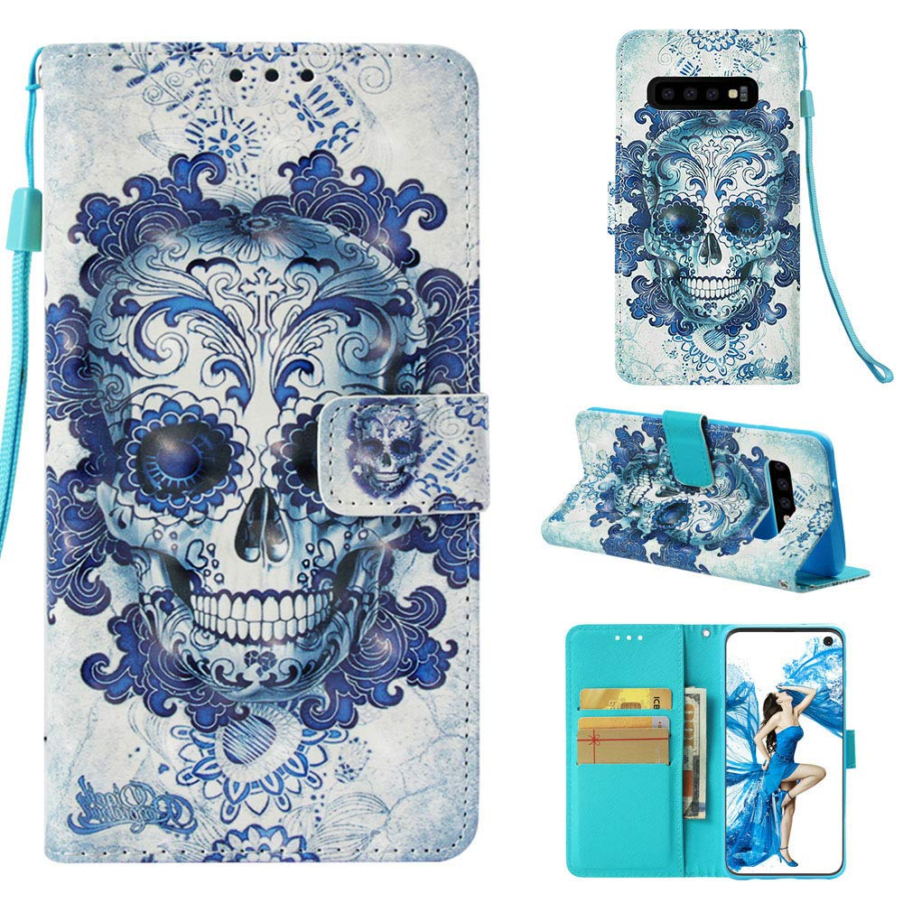 Galaxy S10E Case,Samsung Galaxy S10E Case,Galaxy S10E Wallet Case,Printed Design PU Leather Protective Case Cover with Card Holder Slot Magnetic Kickstand for Samsung Galaxy S10E,Lotus