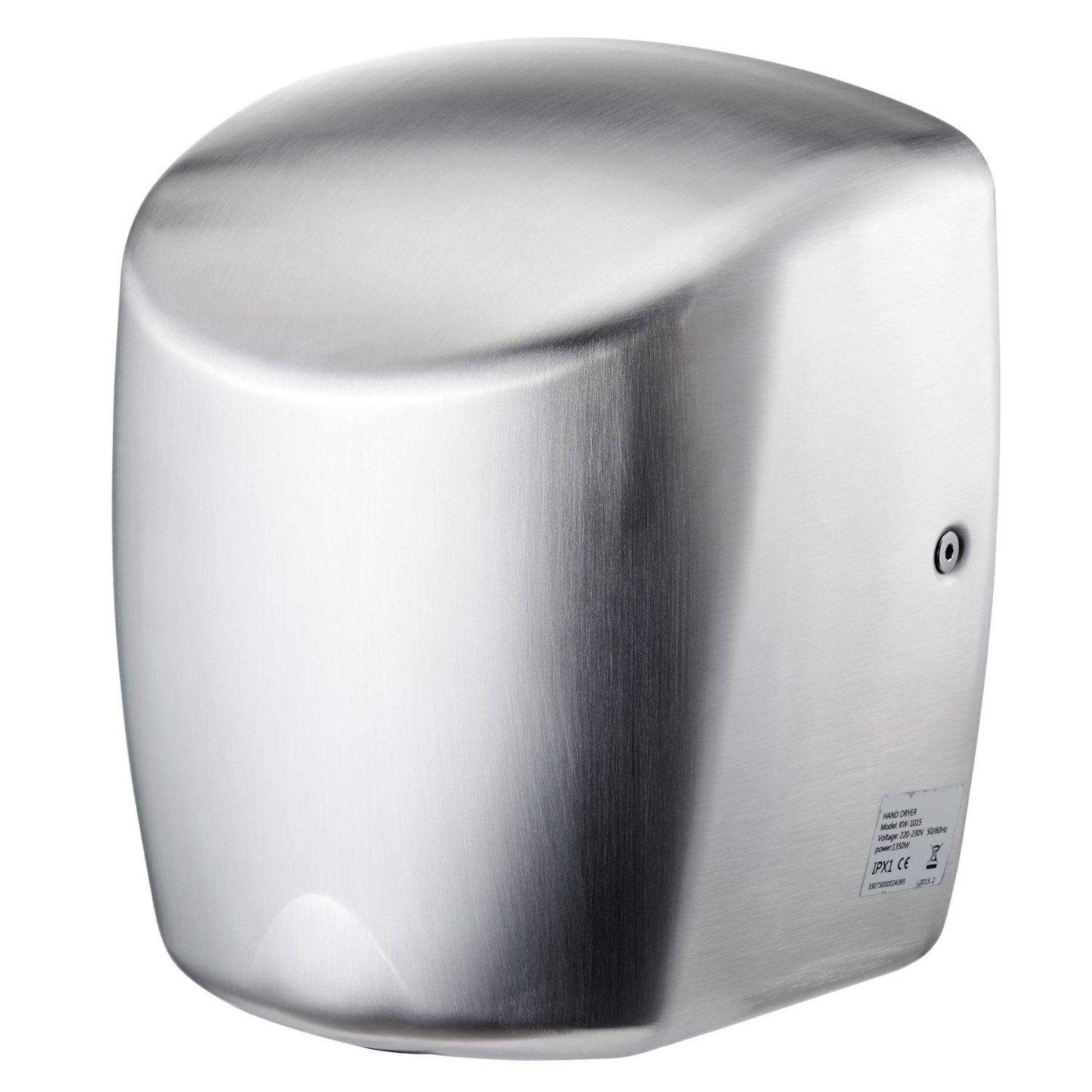 ASIALEO Electric Automatic High Speed Commercial Hand Dryer-Brushed Stainless Steel Cover,Noise Reduction Nozzle,110V/1350W,Commercial Hand dryers for Bathrooms