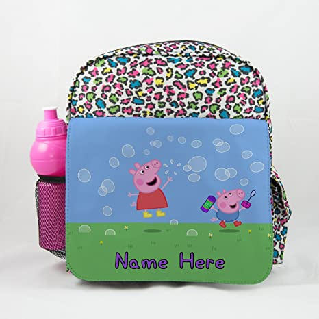 Personalizada Peppa Pig% 26 George PP01 – Animal Impresión Mochila Niños Mochila para niños mochila