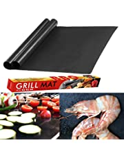 BBQ Grill Mat HEAVY DUTY and NON STICK. Rated for 500 Degrees. Reusable and EASY TO CLEAN. Use These Mats on Gas, Charcoal, Electric Barbecue or Oven. PERFECT for Small Food Grilling That WILL NOT FALL THROUGH THE GRILLS!
