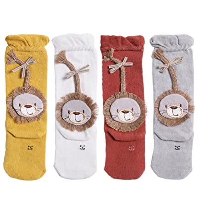 4Pack Baby High Stockings Combed Cotton Tube Socks