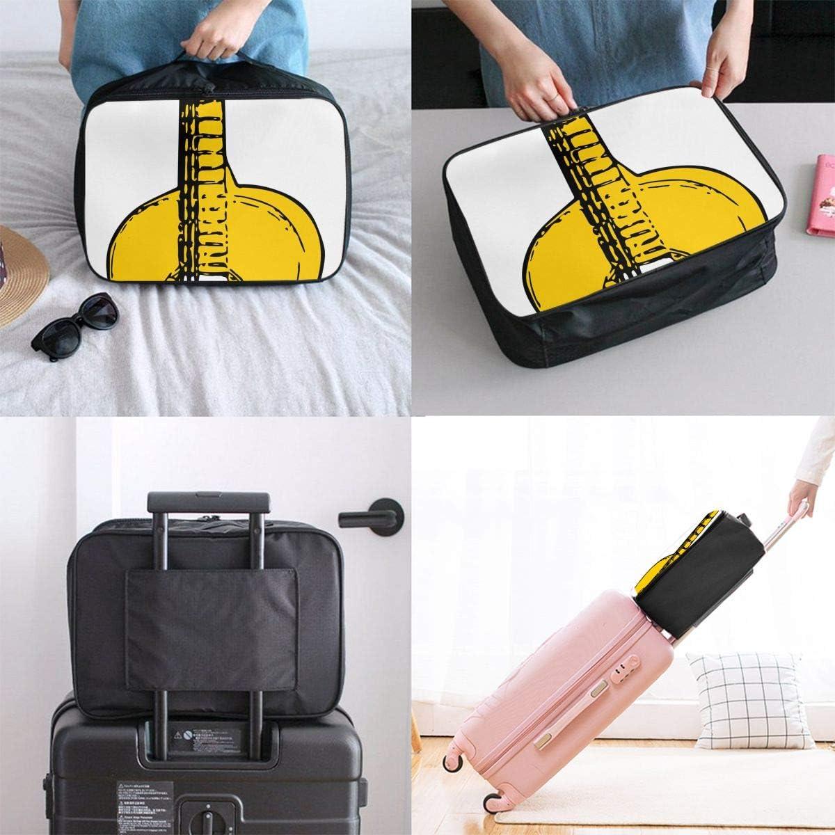 Venezuela Flag Guitar Art Interesting Mens And Womens Travel Folding Bags Gym Sports Waterproof Light Travel Bags