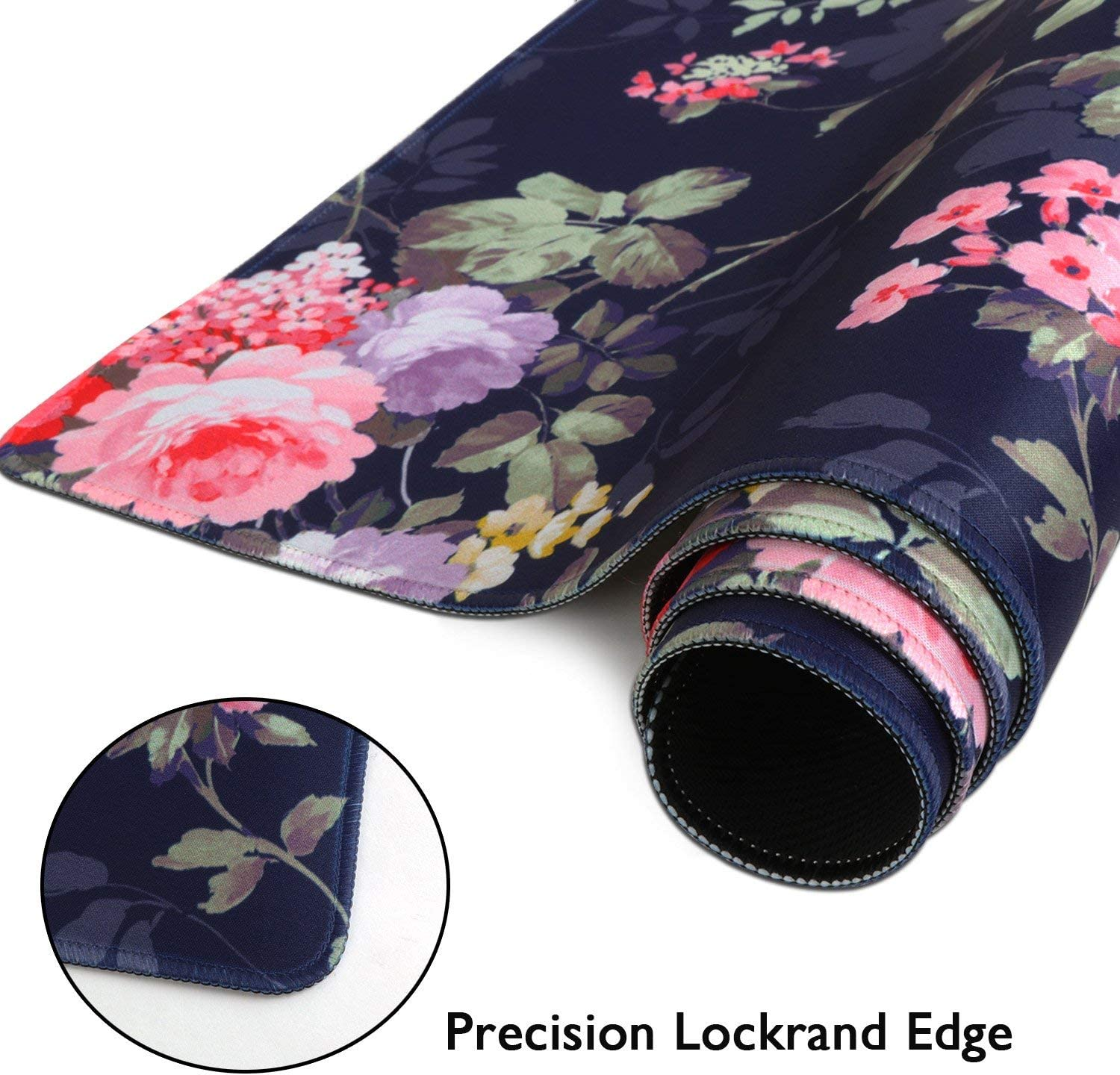 Non-Slip Water-Resistant Rubber Base Computer Keyboard Mouse Mat Peony Flower iLeadon Extended Gaming Mouse Pad Ideal Partner for Work /& Game 35.1 x 15.75-inch 2.5mm Thick XX-Large