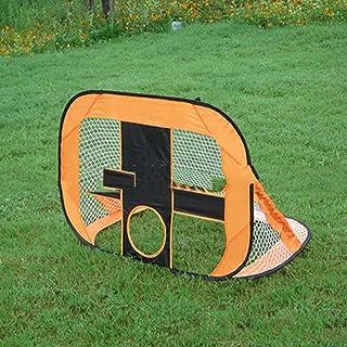 WEATLY La Famiglia Adulta dei Bambini pieganti di Scopo di Calcio per l'esterno dell'interno/Multifunzionale Mini Goall Assemblea Obiettivo Semplice (Color : Orange)