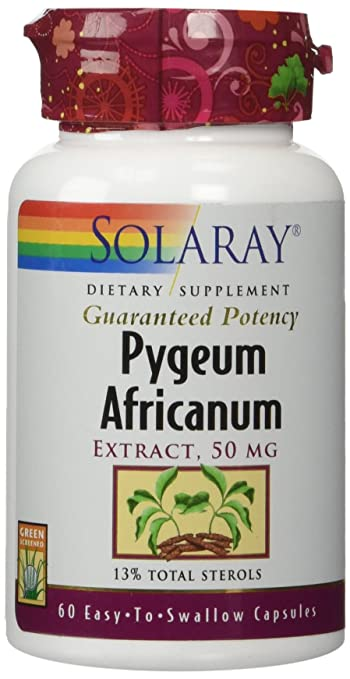 Solaray Pygeum Africanum Extract, 50 mg, 60 Count