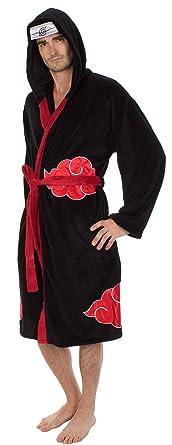 Naruto Shippuden Akatsuki Costume Hooded Fleece Robe