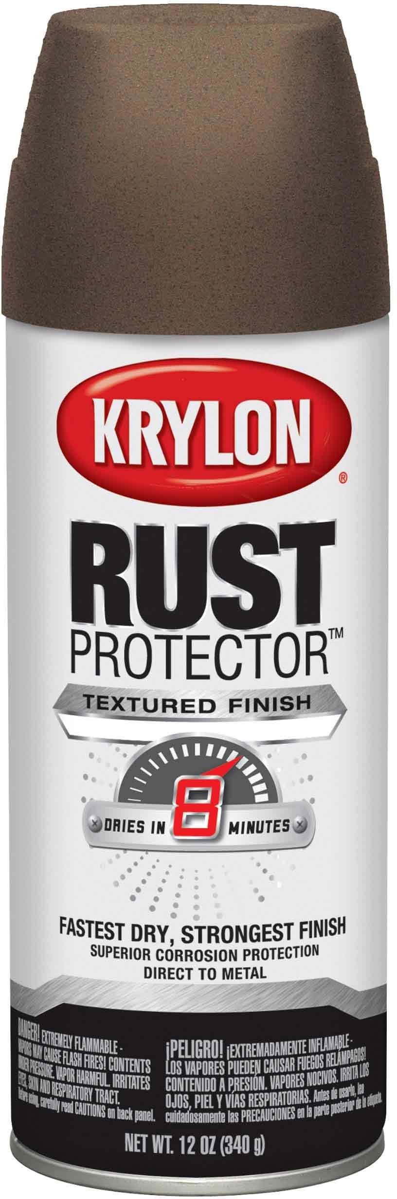 Krylon K06931600 Rust Protector Textured Paint, Dark Bronze