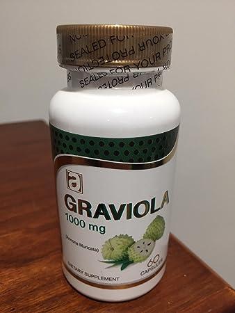 Graviola 1000mg Serving Size, 60 Capsules One Bottle (extracto seco de fruto de graviola