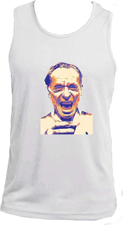 Charles Bukowski Social Crazy Canotta Uomo Cotone Basic Super vestibilit/à Top qualit/à novit/à VIP Humor Divertenti Made in Italy