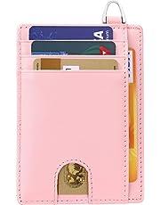flintronic® Portefeuille en Cuir, Noir Etui RFID Blocage Porte Carte de Crédit, Zip Porte-Monnaie, Coffret Cadeau